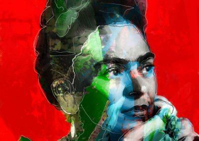 Kai-Schlage-Pop-Art-Kunst-Hamburg-Frida-red